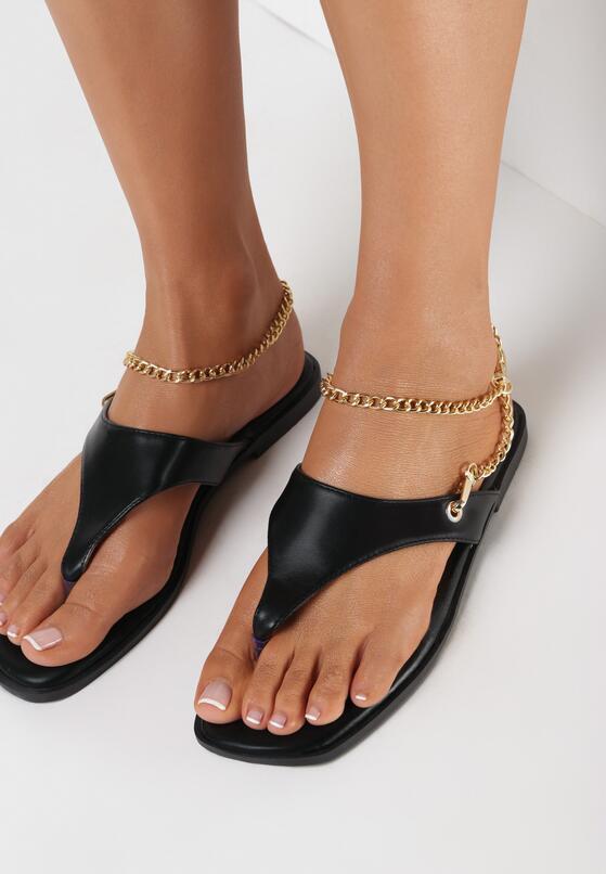 Czarne Sandały Adrasanthei