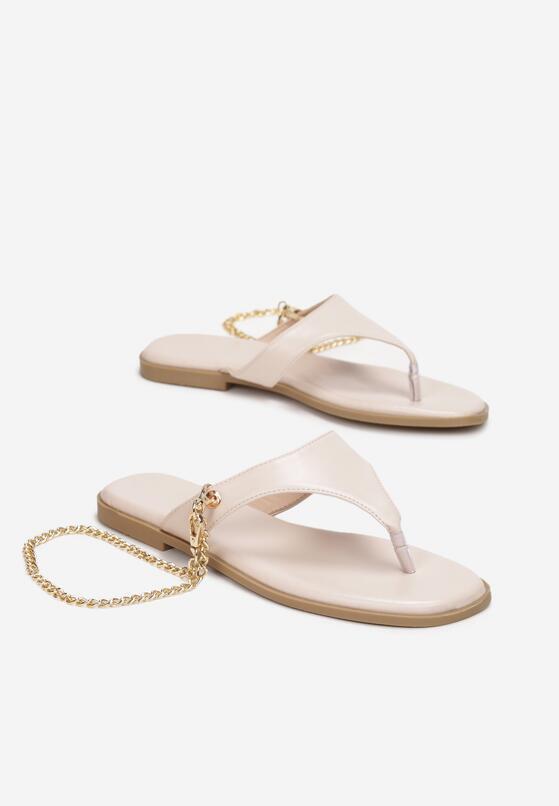 Beżowe Sandały Adrasanthei