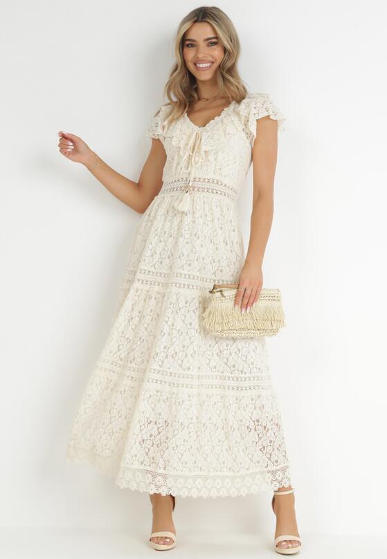 Beżowa Sukienka Sylphiax