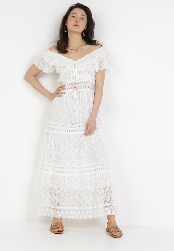 Biała Sukienka Sylphiax