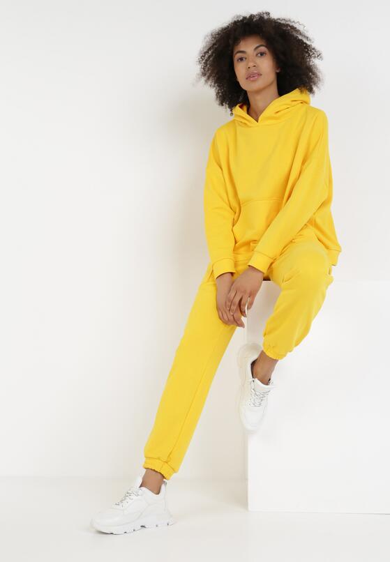 Żółty 2-Częściowy Komplet Dresowy Sylphiphi