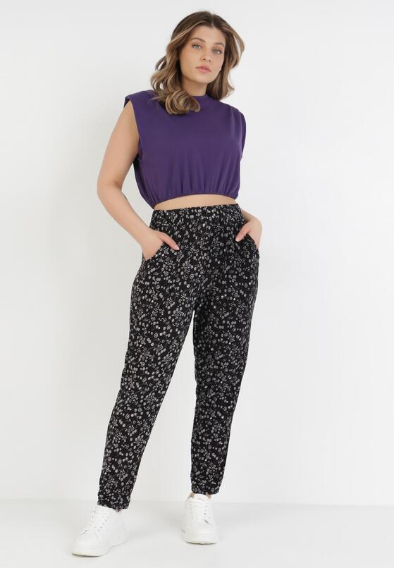 Czarne Spodnie Delmanella