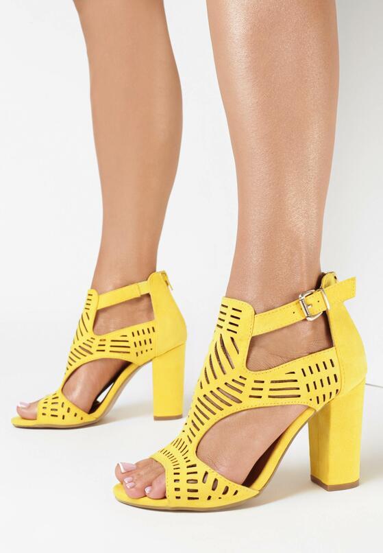 Żółte Sandały Analura