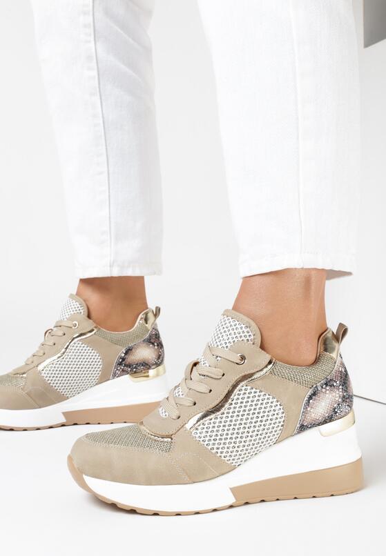 Beżowe Sneakersy Yrelraya