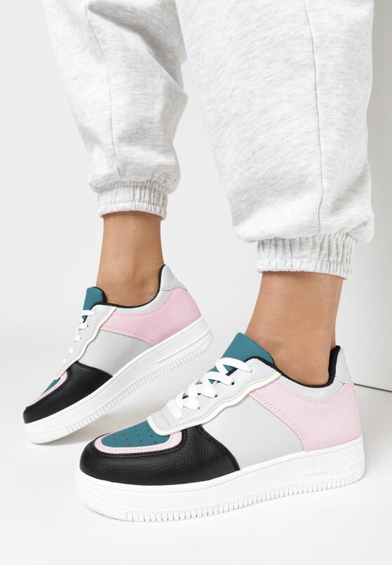 Szaro-Różowe Buty Sportowe Alcirise