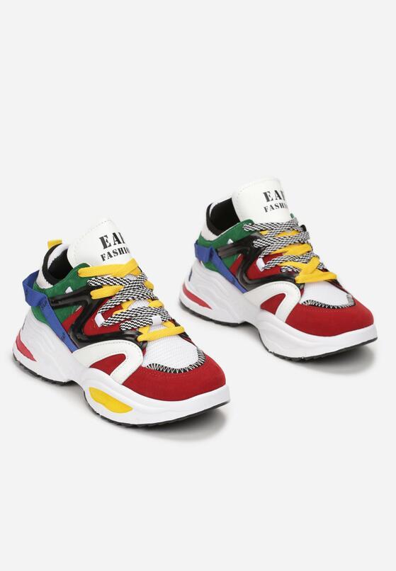 Biało-Czerwone Sneakersy Celareanes