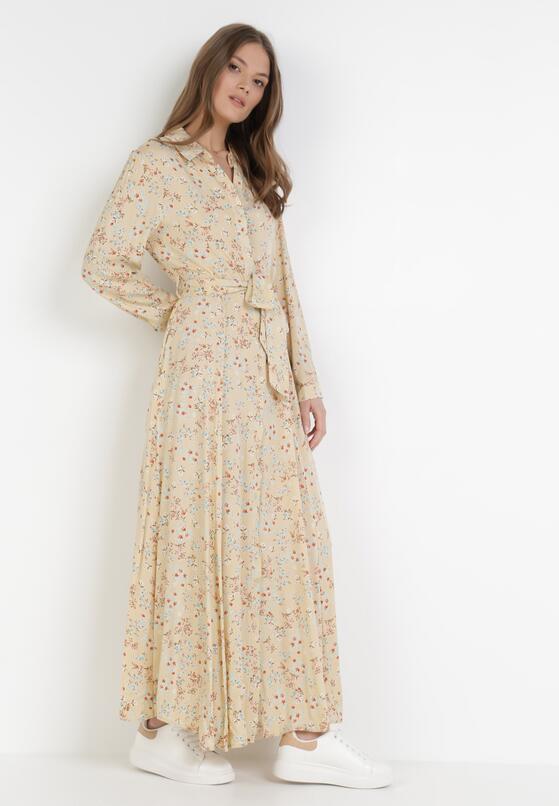 Jasnobeżowa Sukienka Shebelle