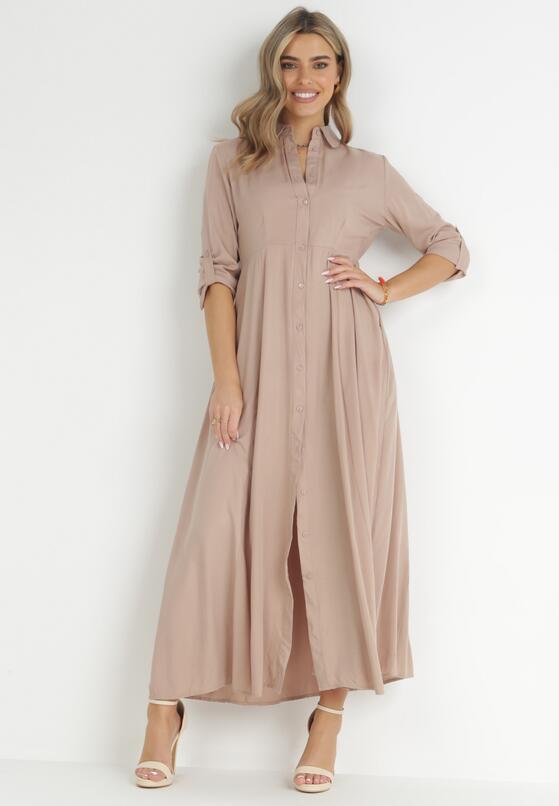 Beżowa Sukienka Controllable