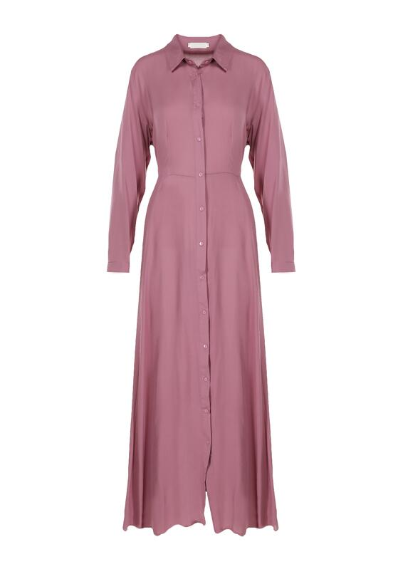Ciemnofioletowa Sukienka Controllable
