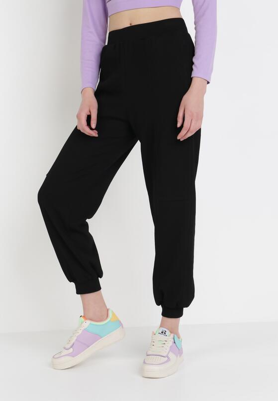 Czarne Spodnie Dresowe Rhaenissis