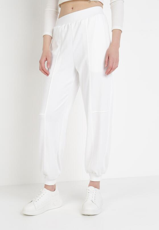 Białe Spodnie Dresowe Rhaenissis
