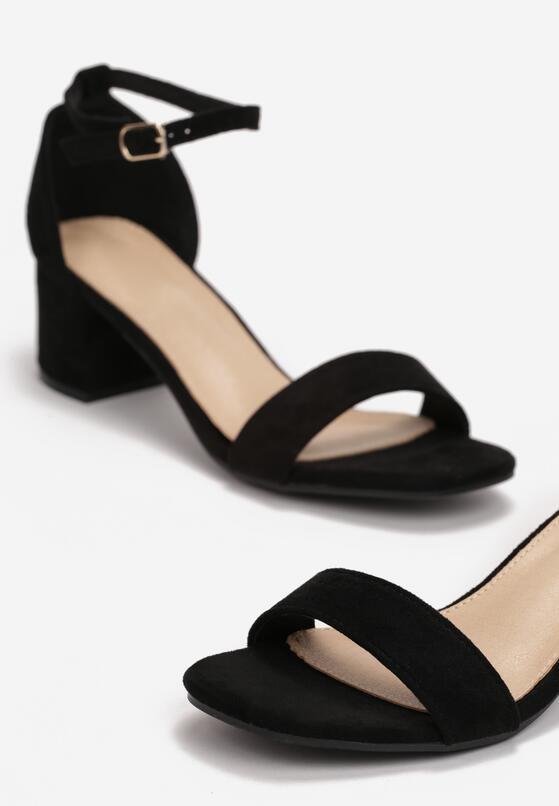 Czarne Sandały Salophis