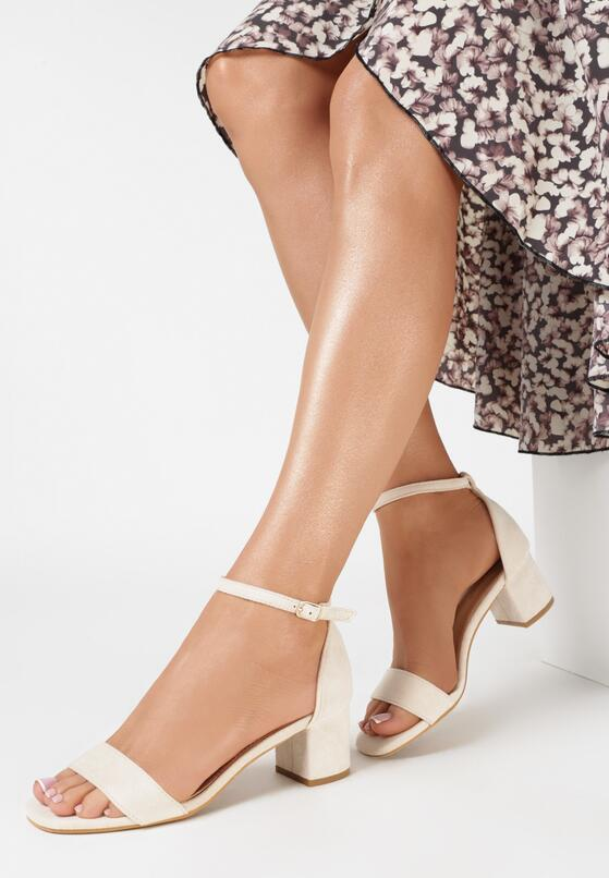 Beżowe Sandały Salophis