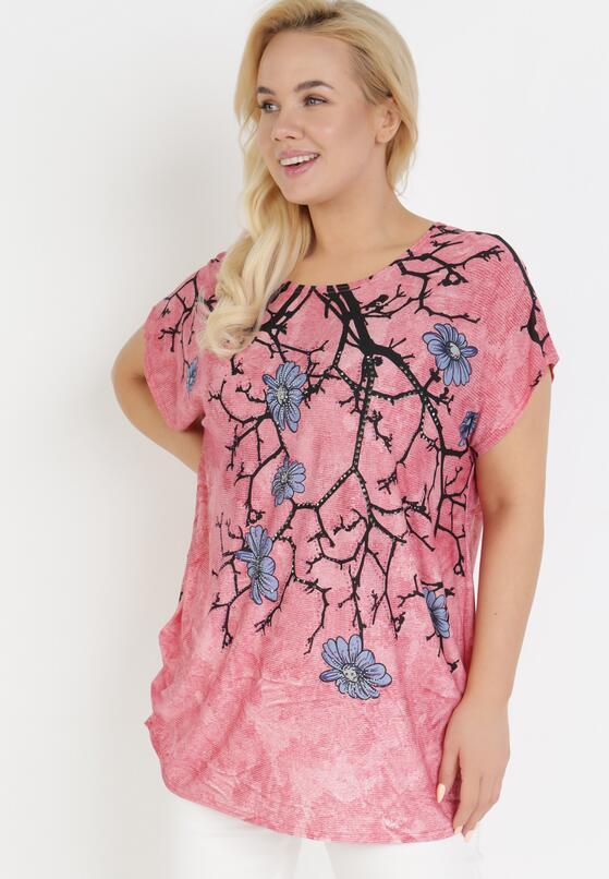 Ciemnoróżowy T-shirt Ethallis