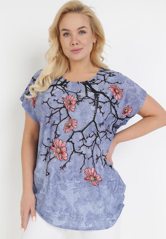 Niebieski T-shirt Ethallis