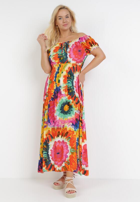 Różowo-Pomarańczowa Sukienka Harphiphi