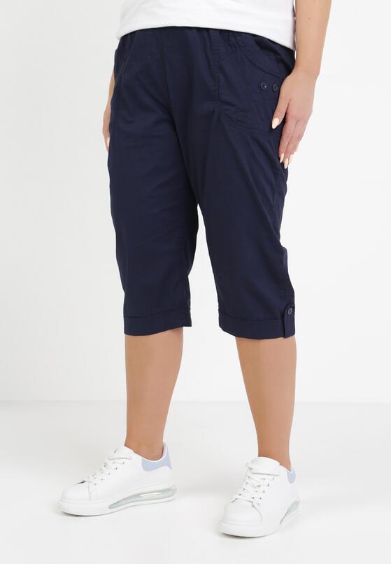 Granatowe Spodnie Kathais