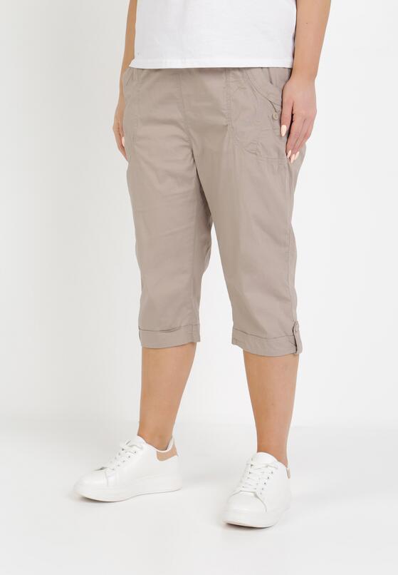 Beżowe Spodnie Kathais