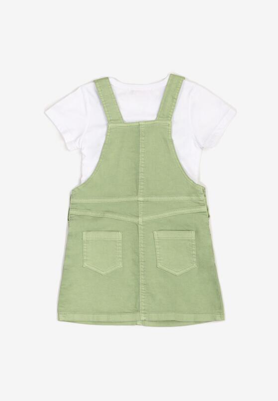 2-Częściowy Biało-Zielony Komplet Vammanaa