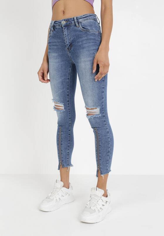 Niebieskie Jeansy Skinny Galixixia
