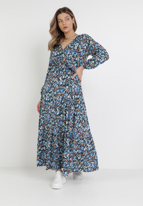 Granatowa Sukienka Zelelis