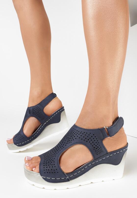 Granatowe Sandały Aetheisa