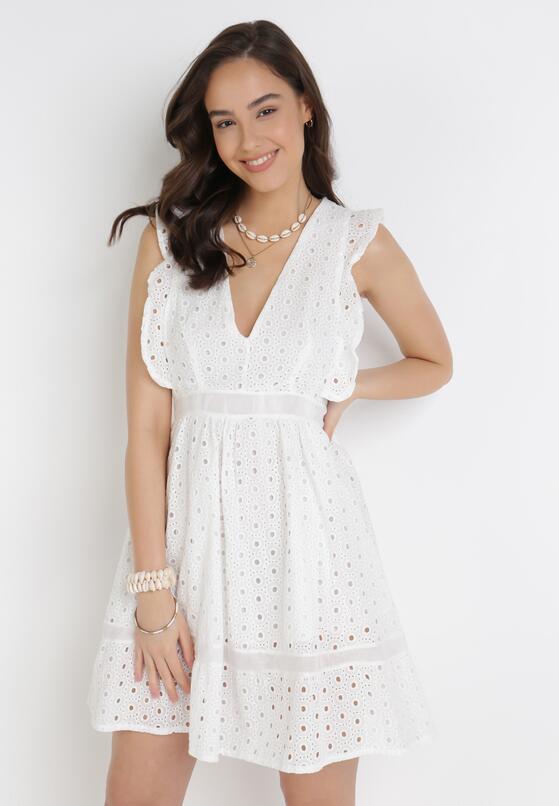 Biała Sukienka Aelossia