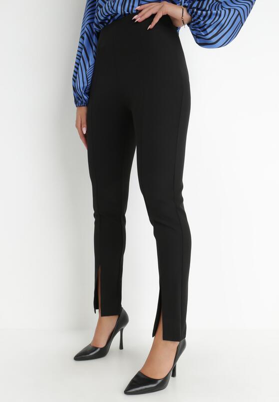 Czarne Spodnie Cygaretki Phalalphia