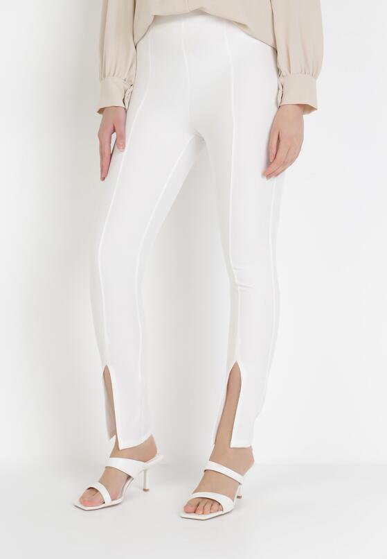 Białe Spodnie Cygaretki Phalalphia