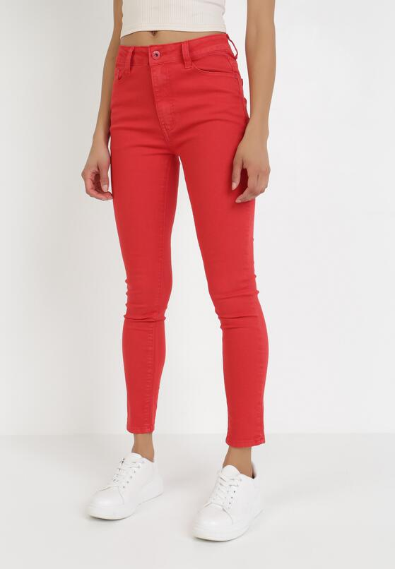 Czerwone Spodnie Skinny Nearila