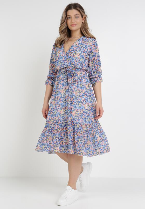 Niebieska Sukienka Thronis