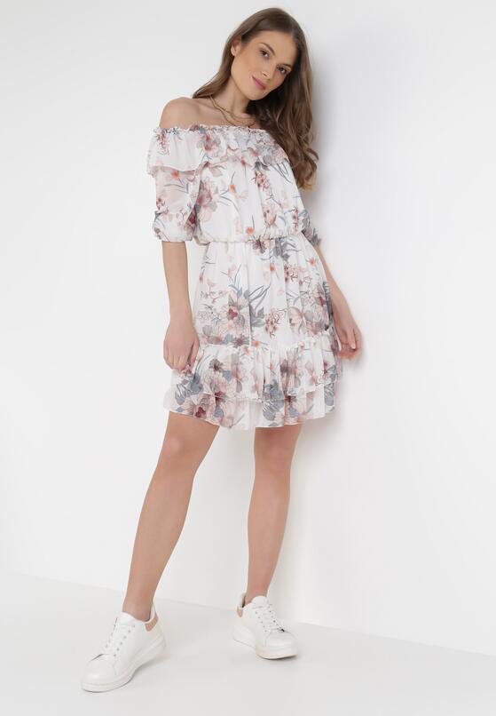 Biała Sukienka Peshanea