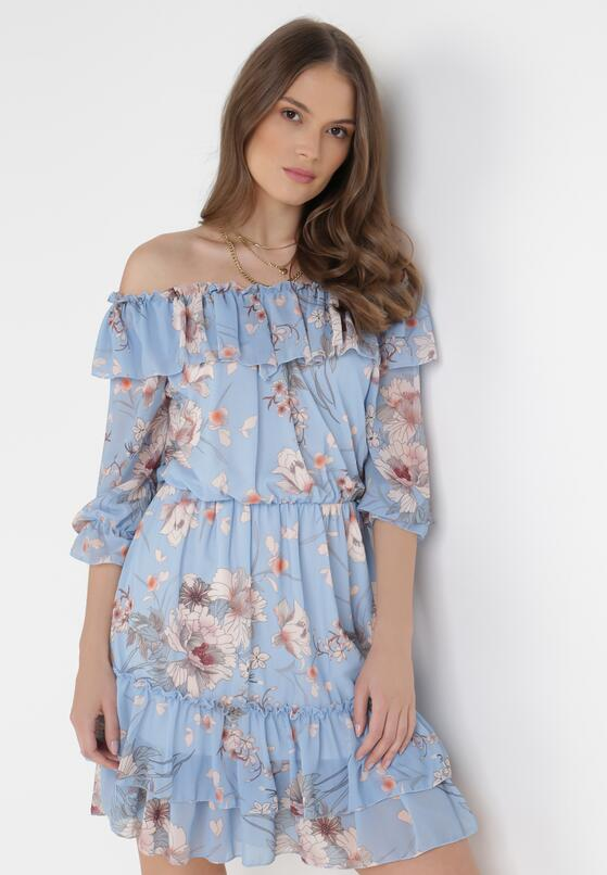 Niebieska Sukienka Peshanea