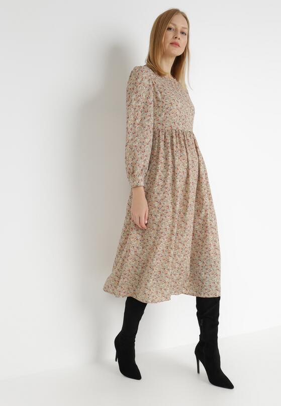 Beżowa Sukienka Usineth