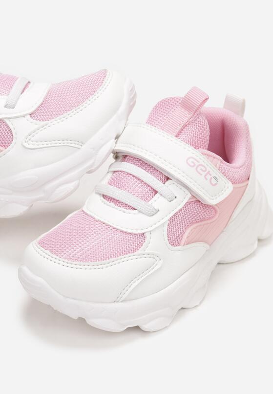Biało-Różowe Buty Sportowe Arethaphaura