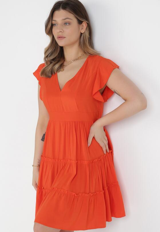 Pomarańczowa Sukienka Callirea