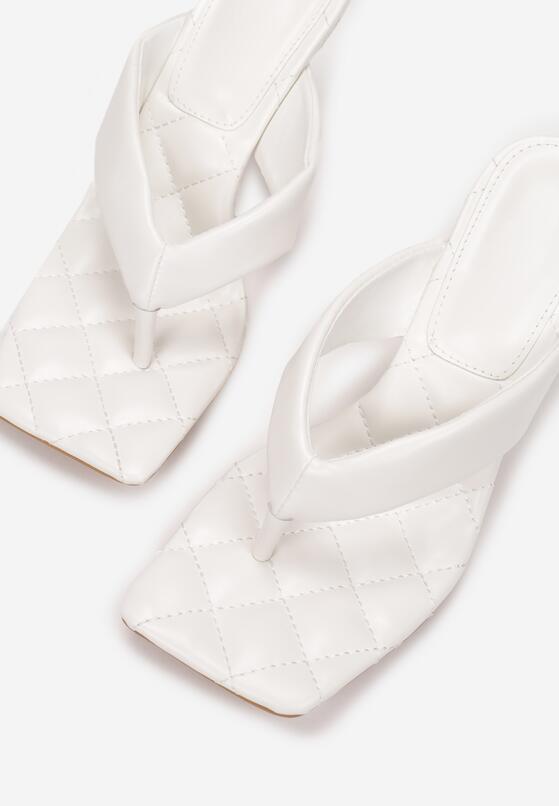 Białe Klapki Laomelyse