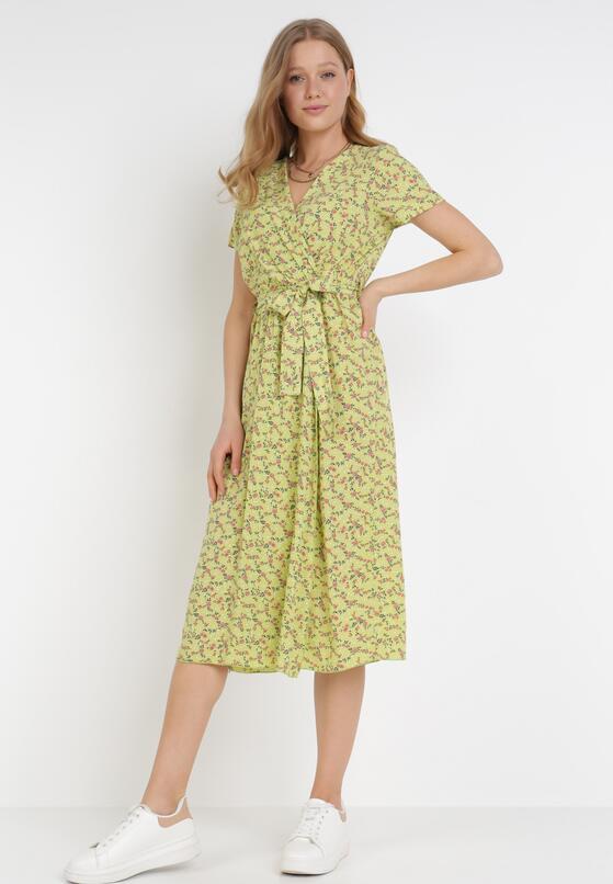 Jasnozielona Sukienka Helsea