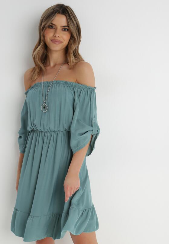 Ciemnozielona Sukienka Zaehorin