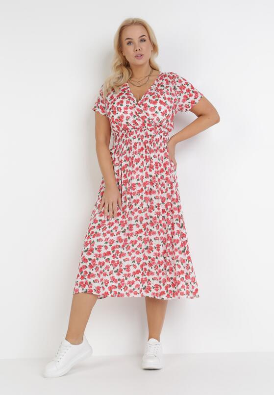 Biało-Czerwona Sukienka Elrinlia