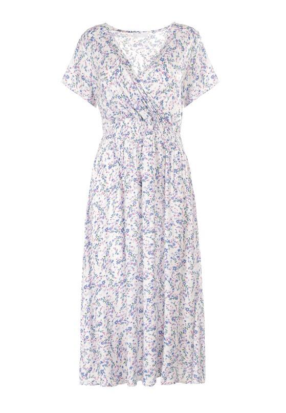 Biało-Niebieska Sukienka Ginornore