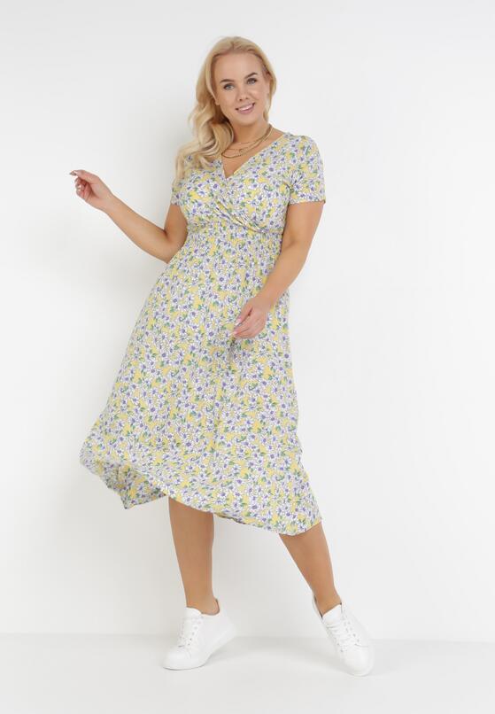 Żółto-Fioletowa Sukienka Fyrney