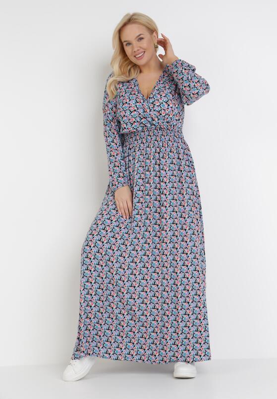 Granatowa Sukienka Acakea