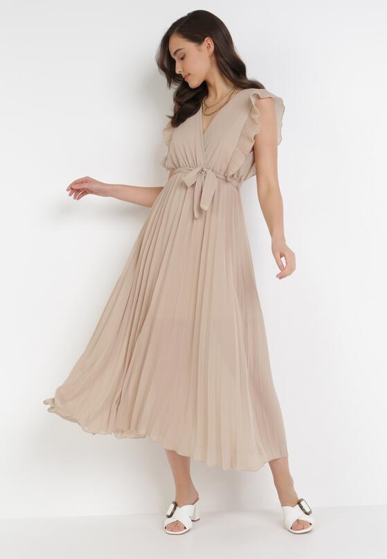 Jasnobeżowa Sukienka Tryxnessa
