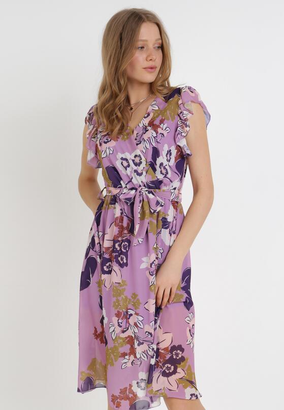Fioletowa Sukienka Xenvyn