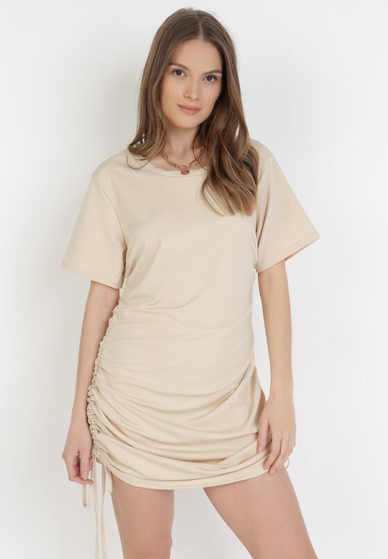 Jasnobeżowa Sukienka Wylinorin
