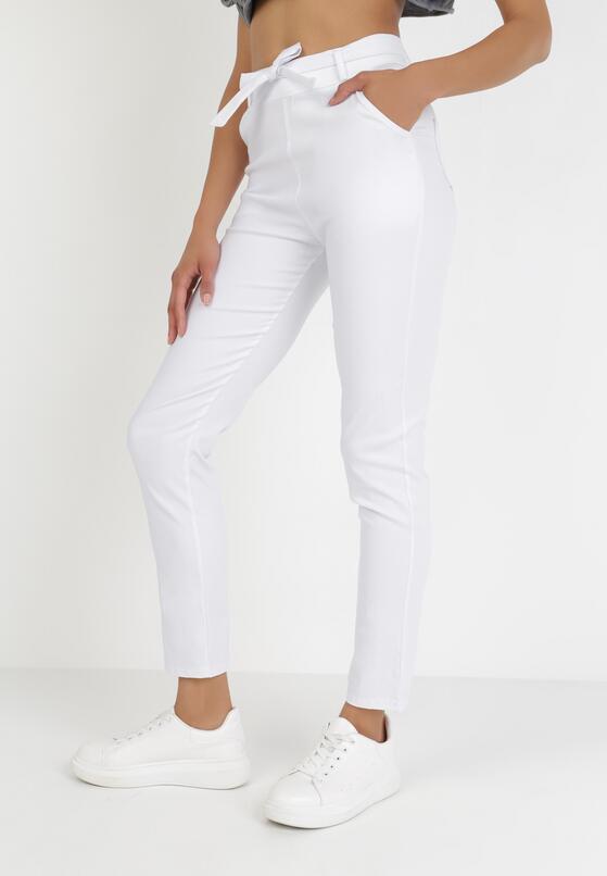Białe Spodnie Skinny Lilrya