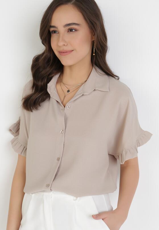 Beżowa Koszula Wylintila