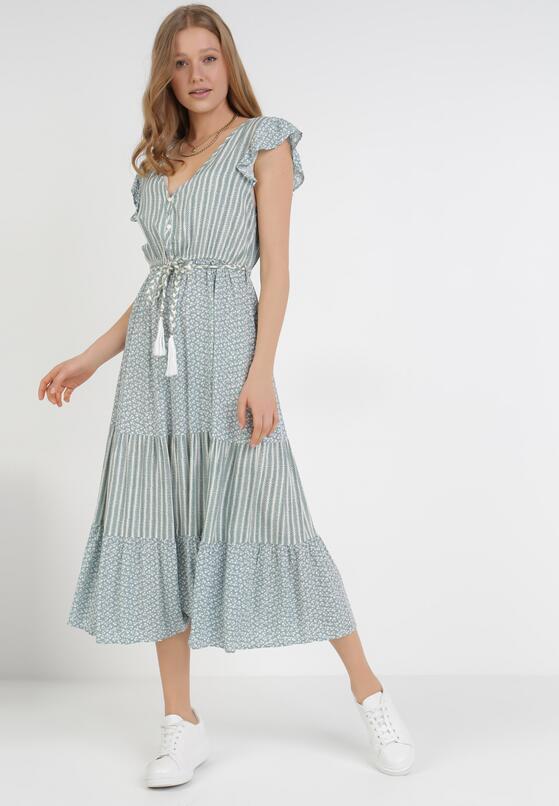 Miętowa Sukienka Pisimea