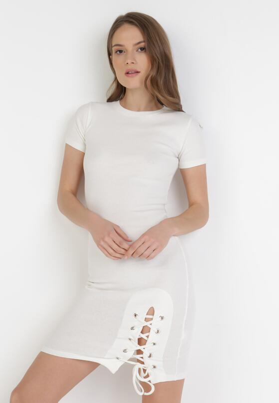 Biała Sukienka Lipise
